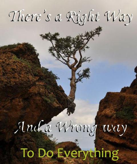 Right Way and Wrong Way